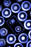 Batteries in a Group for Power. Group of batteries for power supply Stock Photos
