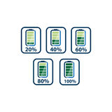 Batteries icons Royalty Free Stock Photos