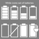 Batteries icons Set Royalty Free Stock Photos