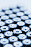 Batteries In Array Royalty Free Stock Photo