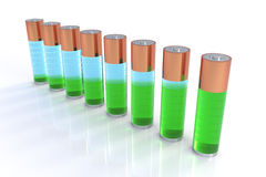 Batteries Indicator Bar Chart Stock Photos