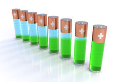 Batteries Indicator Bar Chart Royalty Free Stock Photography