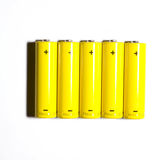 Batteries isolated Stock Image