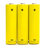 Batteries isolated Stock Photography