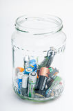 Batteries jar Royalty Free Stock Photography
