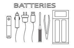 Batteries pour la cigarette électronique Images libres de droits