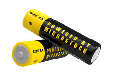 Batteries - Powered by Microstock Royalty Free Stock Image