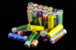 Batteries and rechargeable cells Royalty Free Stock Image