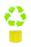 Batteries with recycling symbol Stock Image