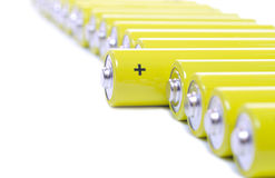 Batteries in a row Stock Photography