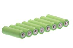 Batteries in row Stock Photography