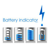 Batteries set 2 Royalty Free Stock Photos