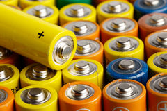 Batteries size AA Stock Image