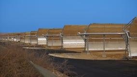 Batteries solaires de paysage industriel Photographie stock libre de droits