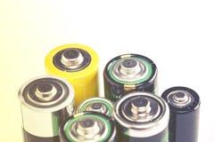 Batteries utilisées Photo libre de droits