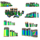 Batteries. Vector concept set of batteries Royalty Free Stock Image
