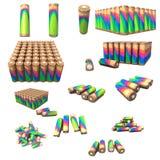 Batteries. Vector concept set of batteries Stock Images