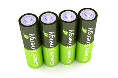 Batteries vertes de puissance d'Eco Image stock