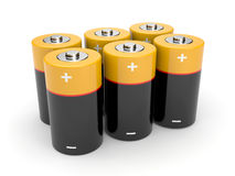 Batteries on a white background Royalty Free Stock Images