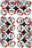 Batteries on white background. Several batteries royalty free stock photography
