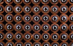 Batteriesatz, Draufsicht Stockfotos