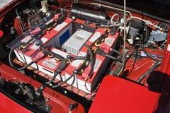 Batteriet pluggar in in bland C Royaltyfri Foto