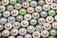 Batteriezusammenfassungs-Hintergrundschuß von der oben genannten Nahaufnahme stockfoto