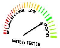 batteriinstrumentprovning Arkivbild