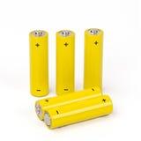 Batterij die op witte achtergrond wordt geïsoleerd Stock Fotografie