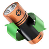 Batterij recyclingsconcept Stock Foto's