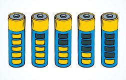 batterij Vector tekening royalty-vrije illustratie