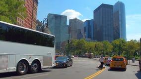 Batterijaandrijving Manhattan stock videobeelden