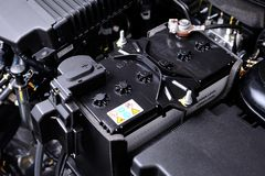 Batterijauto royalty-vrije stock foto's