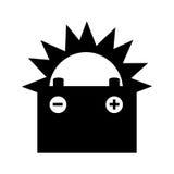 Batterijauto geïsoleerd pictogram Royalty-vrije Stock Fotografie