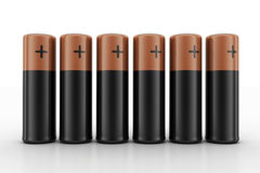 Batterijen op Witte Achtergrond Royalty-vrije Stock Afbeeldingen
