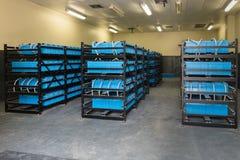 Batterijruimte, Zaal aan reserve of uninterruptible macht wordt gebruikt die royalty-vrije stock foto