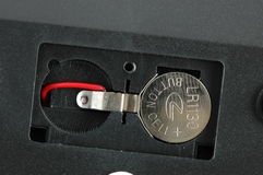 batteriknappcell royaltyfri bild