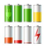batteriladdningssymboler utjämniner vektorn vektor illustrationer