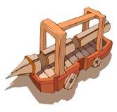 Battering Ram Vector Illustration. Stock Image
