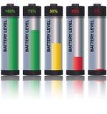 batterinivå Arkivbilder