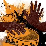 Batterista africano Immagini Stock Libere da Diritti
