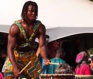 Batterista africano Fotografie Stock Libere da Diritti