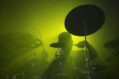 Batterista al concerto Fotografia Stock Libera da Diritti