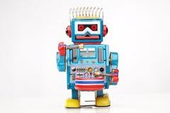 Batterista del robot del giocattolo dello stagno Immagini Stock Libere da Diritti