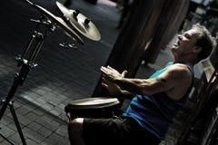 Batterista della via Fotografia Stock
