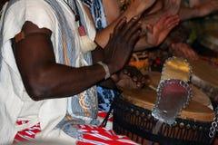 Batterista di Djembe Fotografia Stock Libera da Diritti