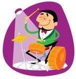 Batterista di jazz Fotografia Stock