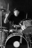 Batterista di rock-and-roll Fotografie Stock Libere da Diritti