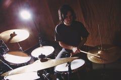 Batterista di rock-and-roll Immagini Stock Libere da Diritti