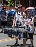 Batteristi alla parata della valle del Mohawk Fotografia Stock